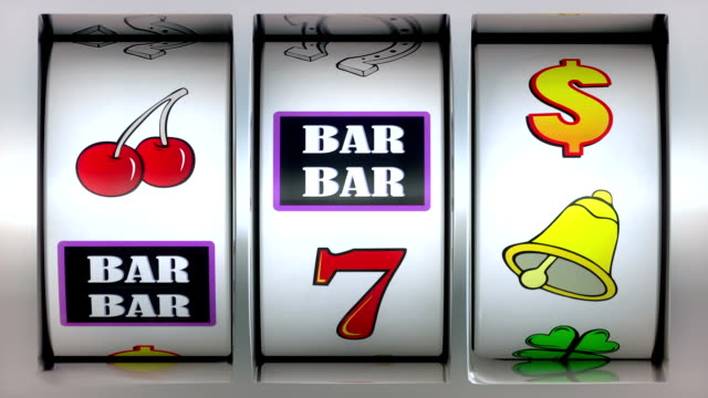 Animation video of Slot Machine and winner lucky seven! video