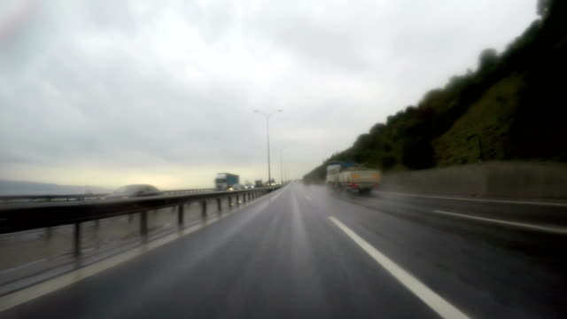 Ankara - Istanbul Highway and Rain video