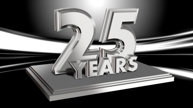 Anniversary 25 Years - looping title video