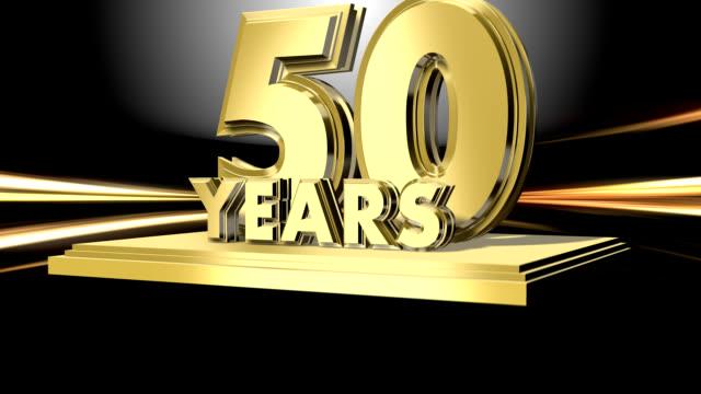 Anniversary 50 Years - wipe transition video