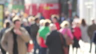 Anonymous Blurred people walking high street - Shoppers and shopping video