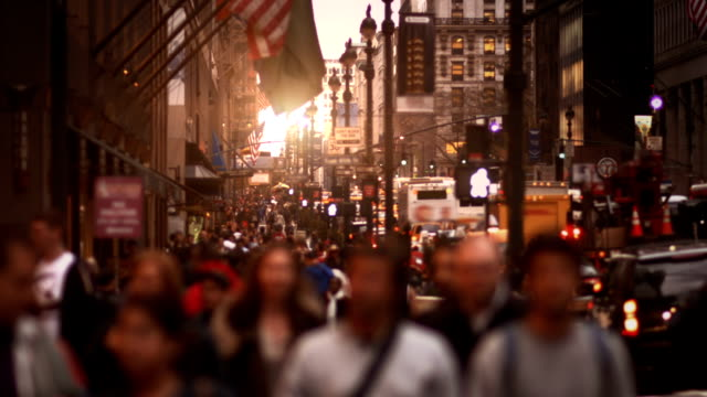 Anonymous crowd. New York City. video