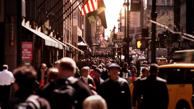 Anonymous crowd walking in New York City. video