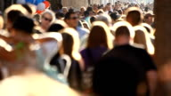 Anonymous Diverse Crowd In Slow Motion video