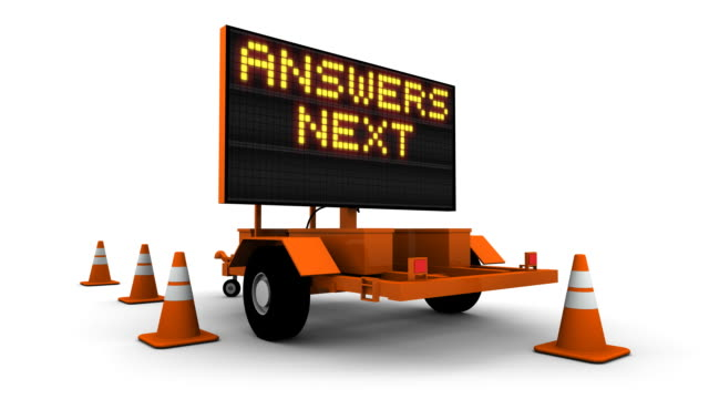Answers Next Exit - Construction Sign Message video