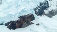 Antarctica Ice Covered Rock Face video