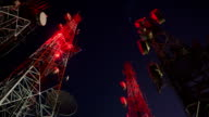 Antenna tower at night video