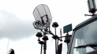 Antennas on military vehicles of communication video