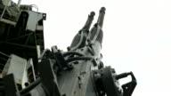 anti-aircraft gun of old military ship video