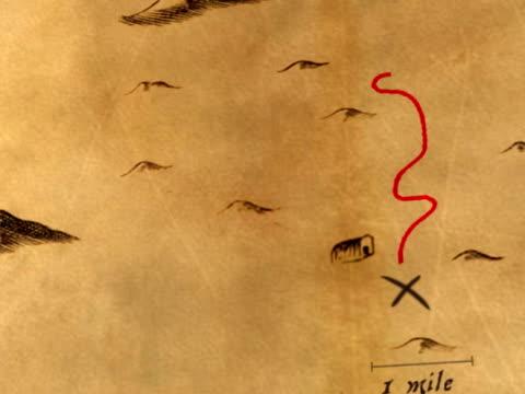 Antique Animated Treasure Map video