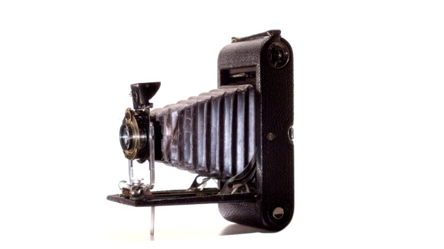 Antique Camera Animates On White video