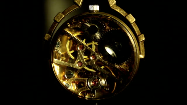 Antique clock video