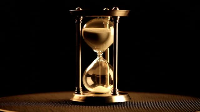 Antique hourglass video