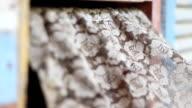 Antique lace curtains video