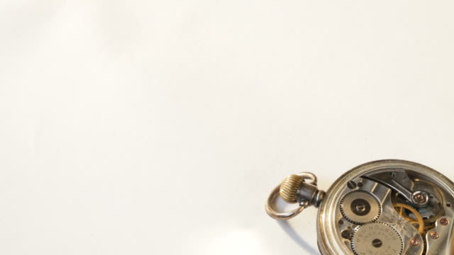 Antique pocket watch with copyspace video