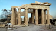 Antique structure in Athenian Acropolis, Greece video