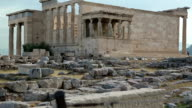 Antique temple in Athenian Acropolis, Greece video