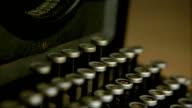 Antique typewriter video