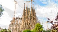 Antoni Gaudi architecture Sagrada Familia in Barcelona video