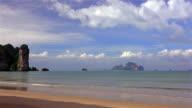 Ao Nang Beach in Krabi, Thailand video