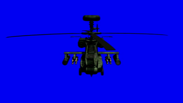 Apache helicopter bluescreen video