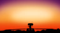 Apache helicopter in the sky during sundown HD video