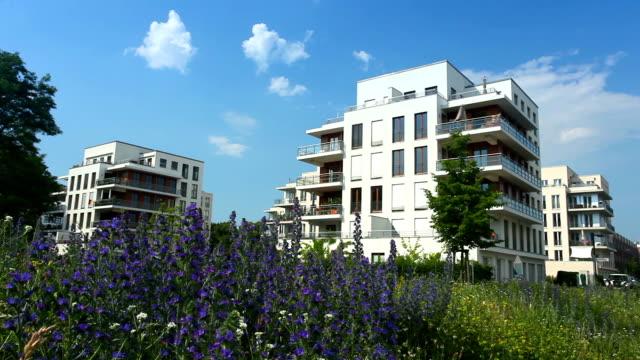 Apartment Blocks in summer video