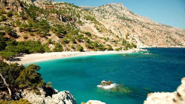 HD: Apella beach, Karpathos island, Greece video