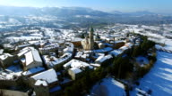 Apiro in the Snow - HD Drone Video Approach Shot video