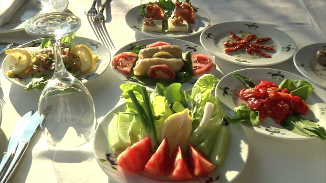 Appetizers on Dinner Table video