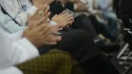 Applauding after best seminar video