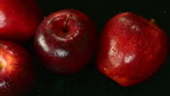 Apple. Close up. Top view. video