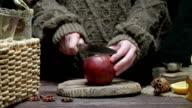 Apple for mulled wine preparing video