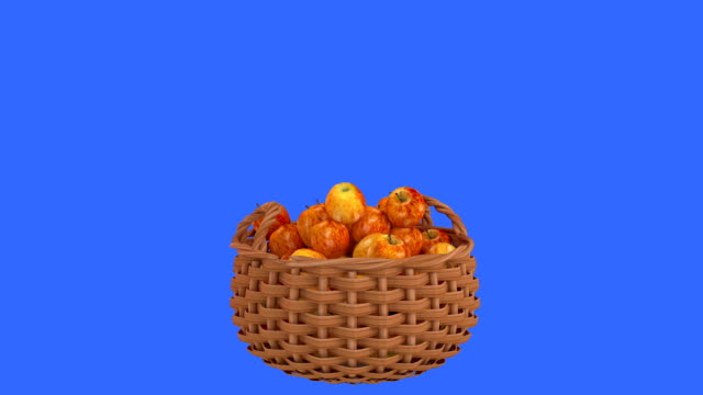 Apples drop in to a basket. video