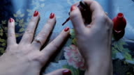 Apply nail polish video