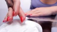 Applying Hand Creme video