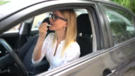 Applying lipstick in the car video