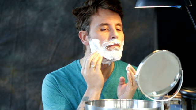 Applying Shaving Foam video