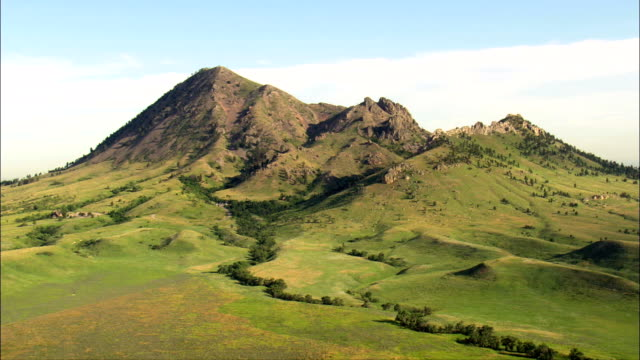 Approach To Bear Butte  - Aerial View - South Dakota,  Meade County,  United States video