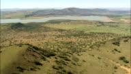 Approach to Spioenkop battlefield  - Aerial View - KwaZulu-Natal,  uThukela District Municipality,  Okhahlamba,  South Africa video