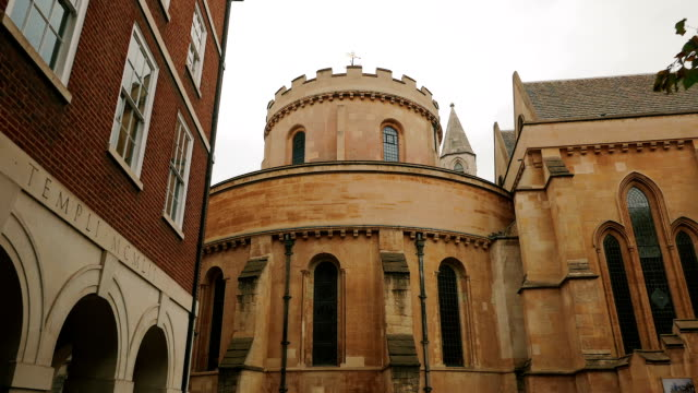 POV approach to the apse of the Temple Church in London, UK video