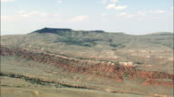 Approaching Bighorn Canyon National Re. Area  - Aerial View - Montana, Big Horn County, United States video