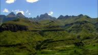 approaching cathedral peak - Aerial View - KwaZulu-Natal,  South Africa video
