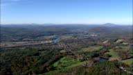 Approaching the Connecticut River  - Aerial View - New Hampshire,  Cheshire County,  United States video