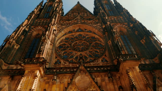 Approaching the St Vitus Cathedral on a Sunny Day in Prague, Czech Republic (Czechia) video