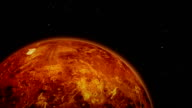 Approaching to Planet Mars in Outer Space video