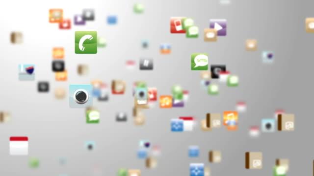 Apps flying arround video