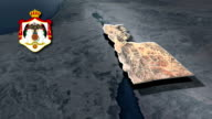 Aqaba with Coat Of Arms Animation Map video
