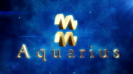 Aquarius (Zodiac Air Sign)   Loopable video