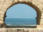 Aqueduct at  Caesarea, Israel video